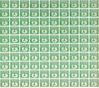 US STAMPS SCOTT RE112 2 CENT WINE FULL SHEET 100 STAMPS CV $900 MNH