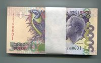 P65b UNC. St. Thomas & Prince 5000 Dobras 1996 MONEY x 50 Bank Notes BUNDLE - SAINT THOMAS
