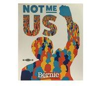 Bernie Sanders 2020 For President Not Me US Bumper Sticker Decal