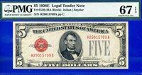 *FR-1530 1928-E $5 US Note (( Finest Know )) PMG Superb-Gem 67EP # H29015709A