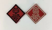 Vintage (2) Boy Cub Scouts BSA Wolf Lion Rank Patch