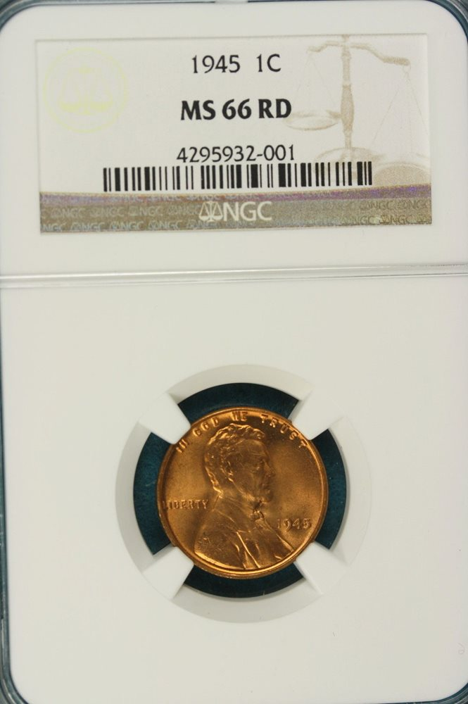 1945       NGC    MS66 RED       LINCOLN  1c