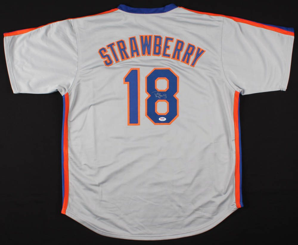 uk availability 917b4 a94d3 Darryl Strawberry Signed New York Mets