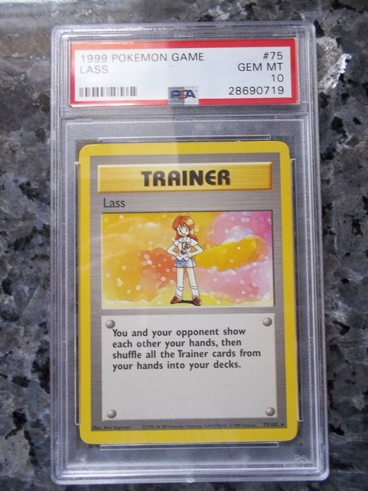 Pokémon Base Set #75/102 PSA 10 GEM MINT Unlimited Lass