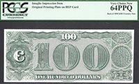 $100 1890 Treasury Note REVERSE FARRAGUT INTAGLIO PCGS VERY CHOICE New 64 PPQ