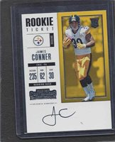 9220b27dd JAMES CONNER 2017 PANINI CONTENDERS ROOKIE TICKET STEELERS ON CARD AUTO RC   320