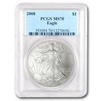 2008 Silver Eagles - MS-70 PCGS