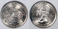 """2000-D ANACS MS{63} Error Coins A SOUTH CAROLINA STATE QUARTER STRUCK FROM A BROKEN COLLAR THAT HAS EFFACED THE RIM & MOST OF THE WORD """"UNITED"""" ON THE OBVERSE."""