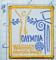 WAGGGS OLYMPIA BADGE GIRL GUIDES & SCOUTS PATCH