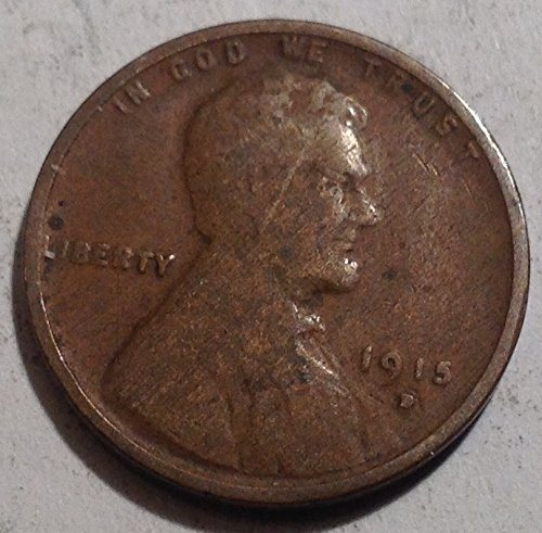 1915-D LINCOLN WHEAT CENT IN GOOD CONDITION