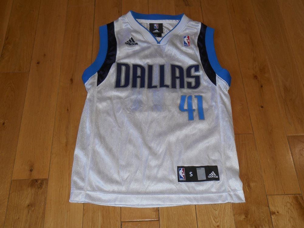 super popular 14130 28bb8 adidas DIRK NOWITZKI White DALLAS MAVERICKS MAVS Youth NBA Team Replica  JERSEY S