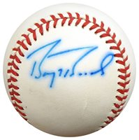 b5e96c72175 Barry Bonds Autographed Signed Official NL Baseball Gia