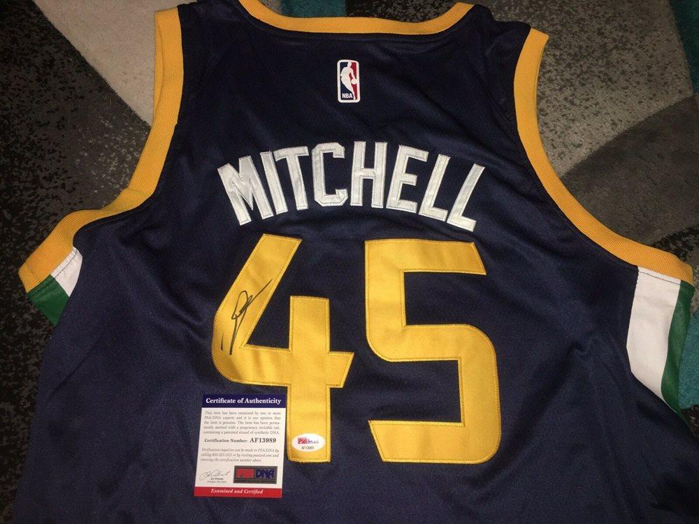 size 40 d5660 62414 Donovan Mitchell Signed Utah Jazz Jersey Superstar PSA/DNA