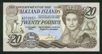 20 Pounds Falkland Islands 1984 15a CH AU $170