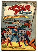 All Star Comics #36 1947 Batman and Superman cover-DC FN-