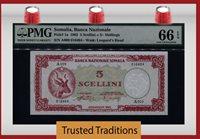 5 Shillings 1962 Somalia Banca Nazionale 5 Scellini = Pmg 66 Epq Gem!