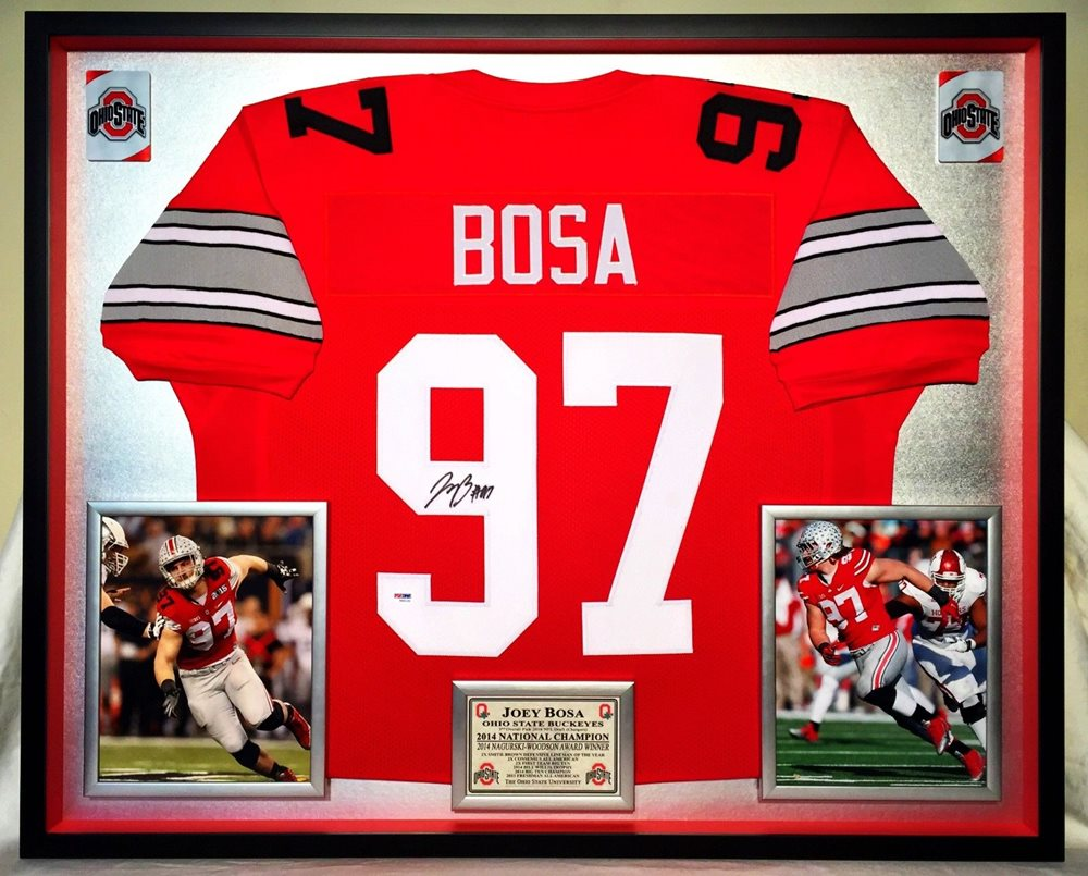 free shipping 2f37e 556fc Premium Framed Joey Bosa Signed Ohio State Buckeyes Jersey - PSA COA -  chargers