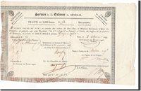 2000 Francs Senegal Banknote, 1829-03-02