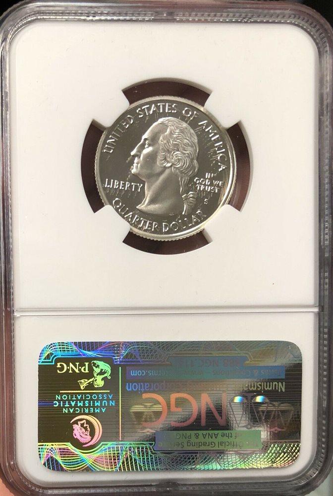 2001-S Flag Silver Rhode Island RI State Quarter PR69DCAM PCGS Proof 69 Deep Cam