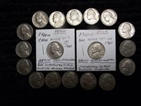 Bar Nickel - Error Coin AE345 Sharp 1960-D /& 1961-D These are AU Condition