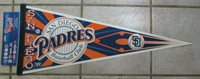 RARE NWT NEW SAN DIEGO PADRES FULL SIZE PENNANT MAN CAVE MADE BY WINCRAFT