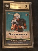 2012 Bowman RUSSELL WILSON Variation dropping back MINT BGS 9 Low POP RARE