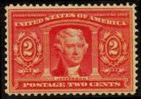 Scott 324, VF H, 1904 2c Thomas Jefferson
