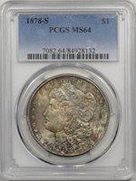 1878-S $1 MS64 PCGS