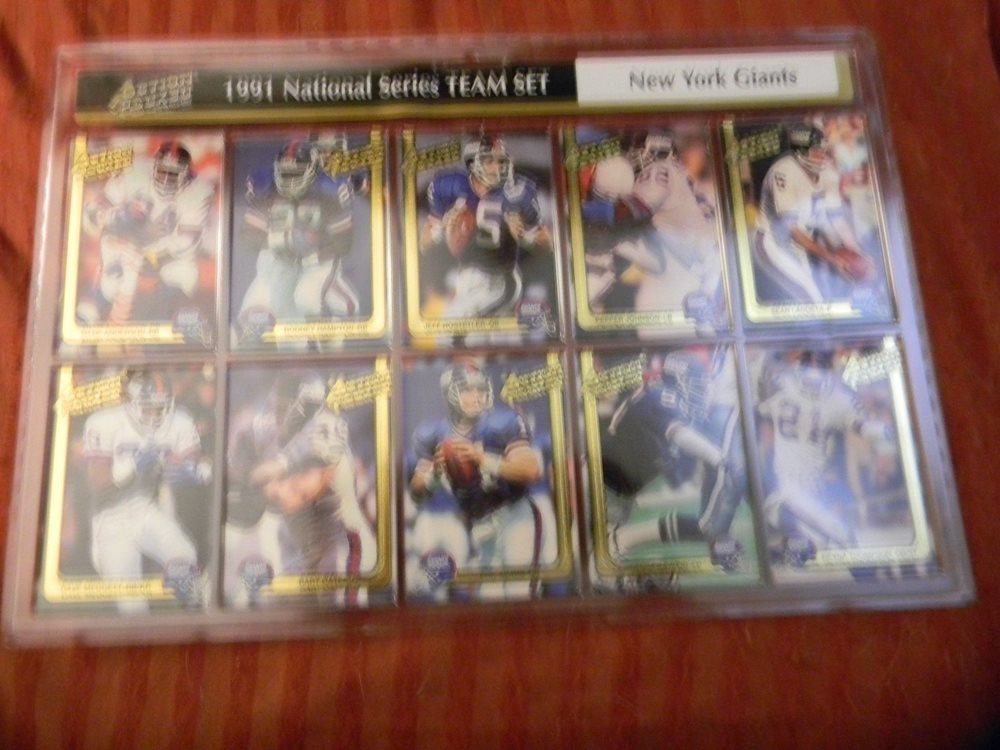 NY GIANTS CHAMPIONS FACTORY SEALED 1991 Action Packed National Series Team Set!
