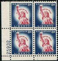 U.S. #1042 8� Statue of Liberty