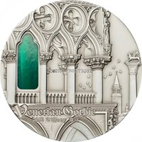 Silver Coins - 2013 Palau $10 Tiffany Art Venetian Gothic 2 oz silver coin antique finish