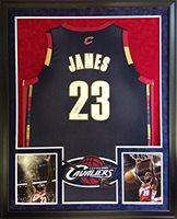 LeBron James Framed Jersey Signed UDA COA UpperDeck Cleveland Cavaliers Upper Deck