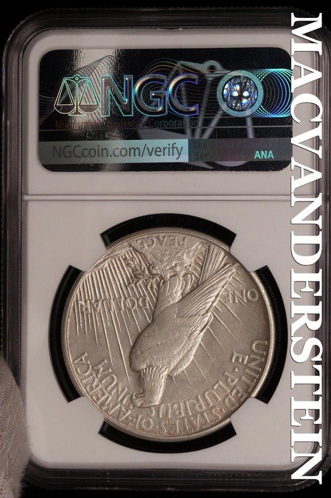 1921 Peace Dollar NGC AU Details