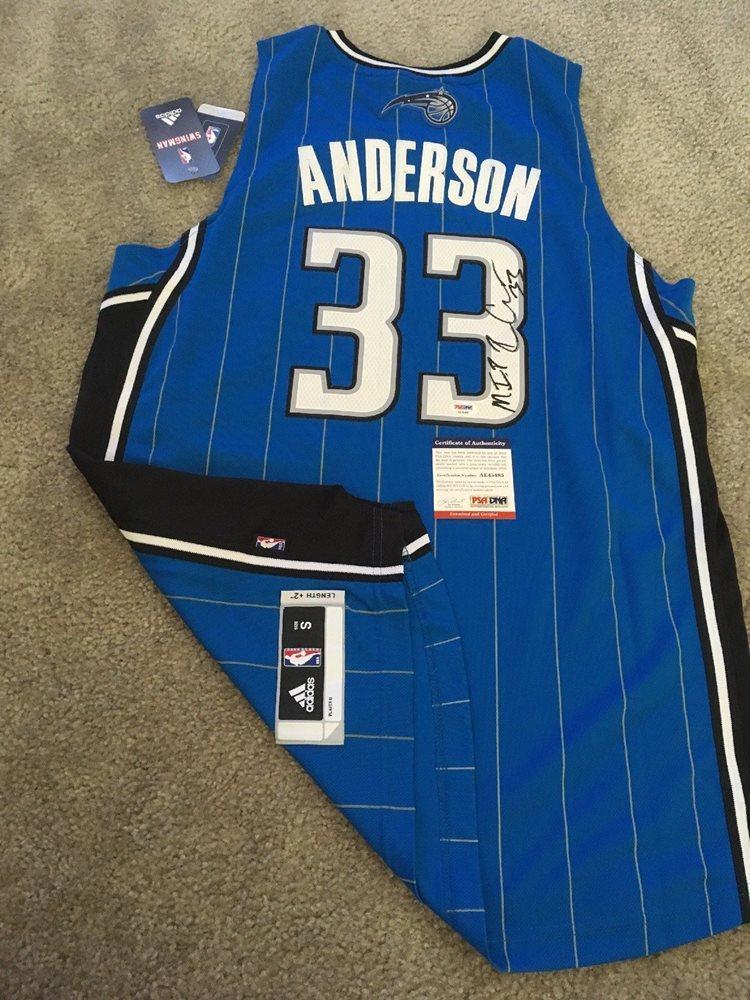 newest eabbb 9cf03 Ryan Anderson Signed Autograph NBA Swingman Jersey Magic Rockets MIP PSA COA