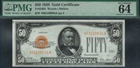 Fr.-2404 1928 $50 Gold Certificate Ser. A03126634A PMG-64