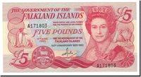 5 Pounds Falkland Islands Banknote, 1983-06-14, Km:12a
