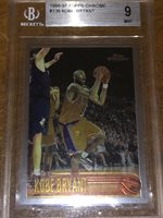 Kobe Bryant 1996-1997 Rookie Card Rookie Beckett Graded 9 MINT TOPPS CHROME