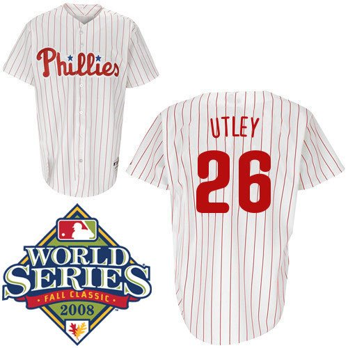 premium selection 71f14 67b43 Chase Utley Hand-Signed Jersey With Certificate Of Authenticity