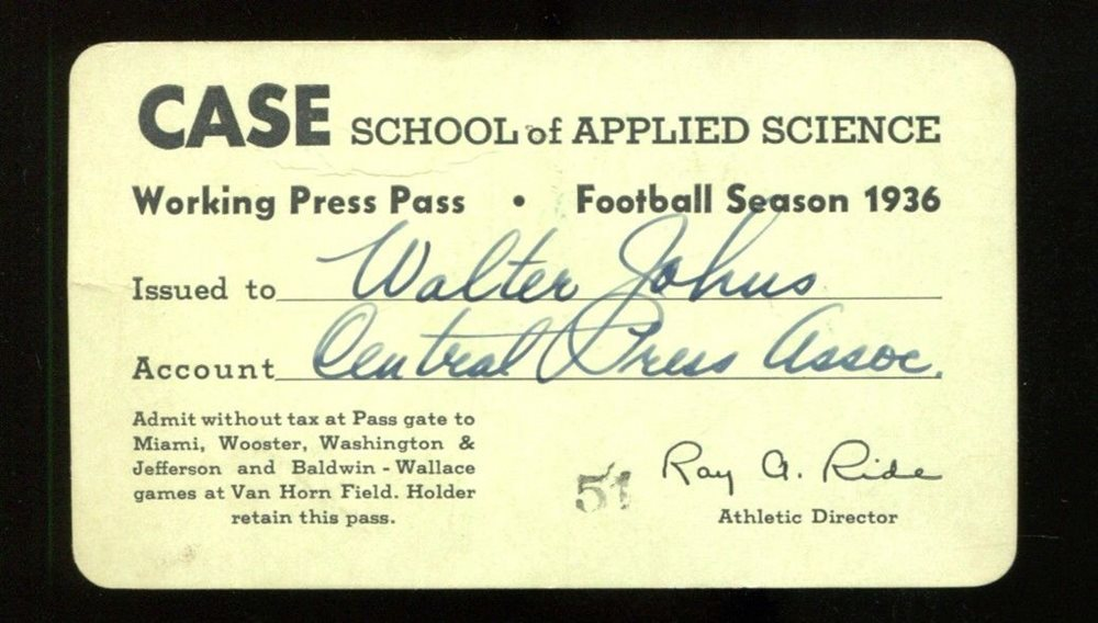 1936 Case Western Reserve University Football Season Pr