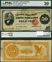 FR. 1197 $50 1882 Gold Certificate PMG VF30