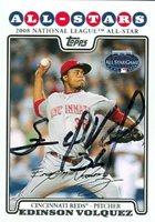 Edinson Volquez autographed Baseball Card (Cincinnati Reds) 2008 Topps All Star #UH322