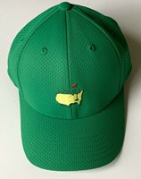 Masters golf hat green performance tech embroidered logo 2021 masters pga new