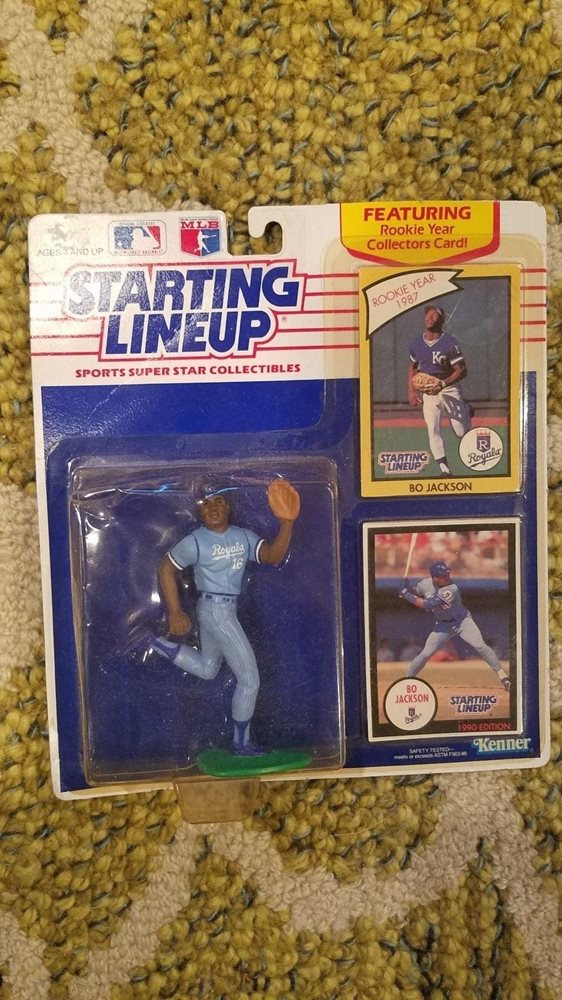 Nos Mlb 1987 Rookie Card 1990 Kansas City Royals Bo Jackson Starting Lineup