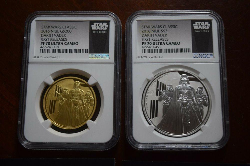 First Strike 2019 Niue 1oz Silver Star Wars Darth Vader Coin PCGS MS70
