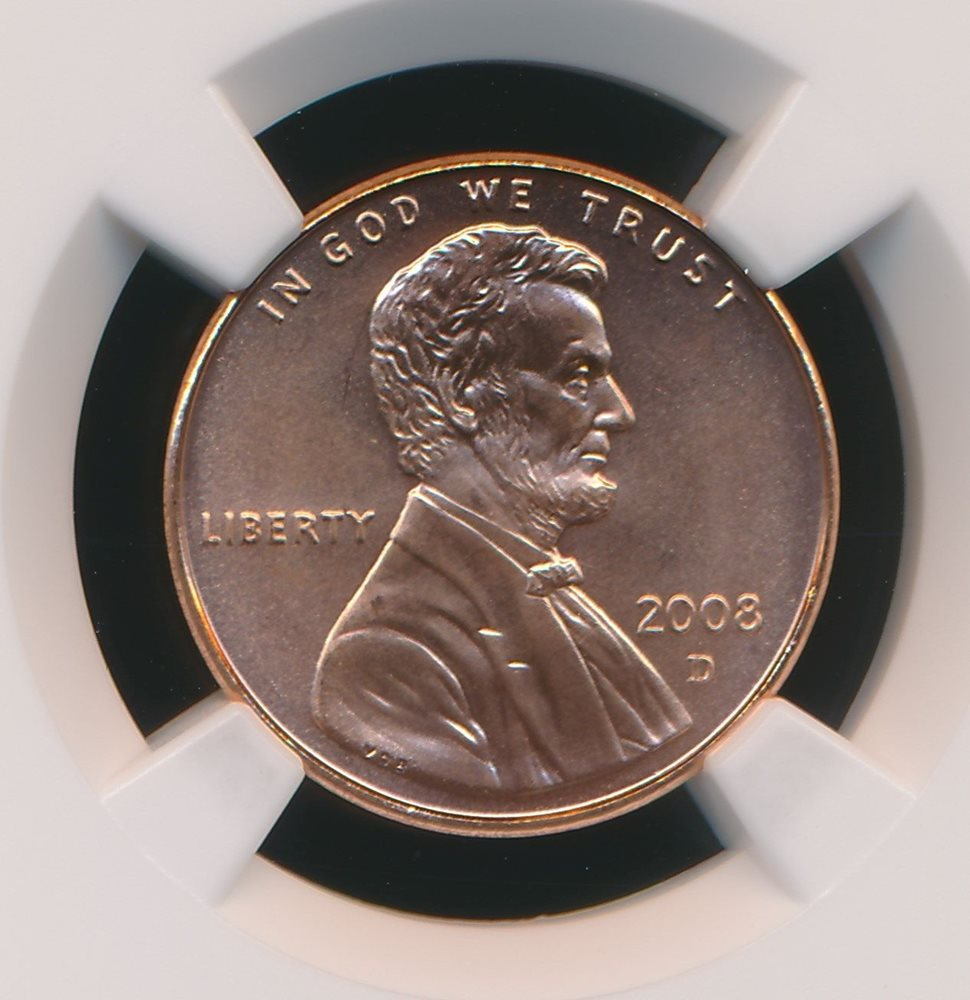 2008-D LINCOLN CENT NGC MS67 RD SMS