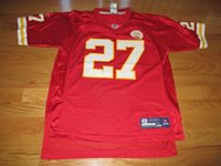 in stock 7d416 b2839 Vintage Reebok LARRY JOHNSON No 27 KANSAS CITY CHIEFS (Youth LARGE) Jersey