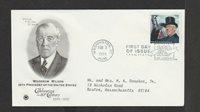 Scott 3183k Woodrow Wilson Feb 03, 1998 PCS FDC