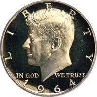 1964 50c PCGS Proof 67 DCAM (Accented Hair)