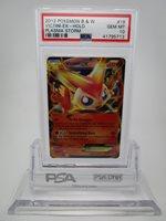 PSA 10 GEM MINT Victini EX BW Plasma Storm Pokemon Card 18/135 B43