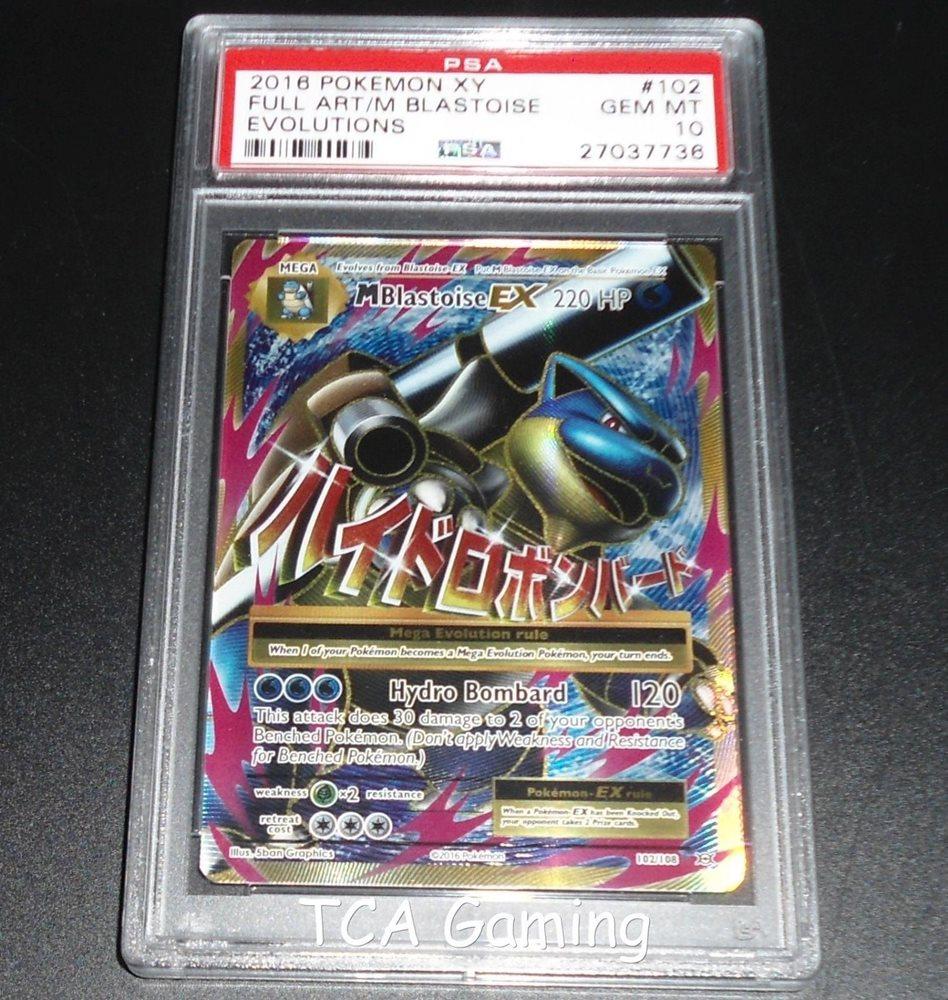 - PSA 10 GEM MINT MEGA M Blastoise EX 102/108 XY Evolutio